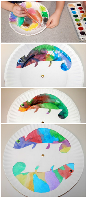 Colorful Chameleons Diy Crafts Pinterest Crafts For Kids