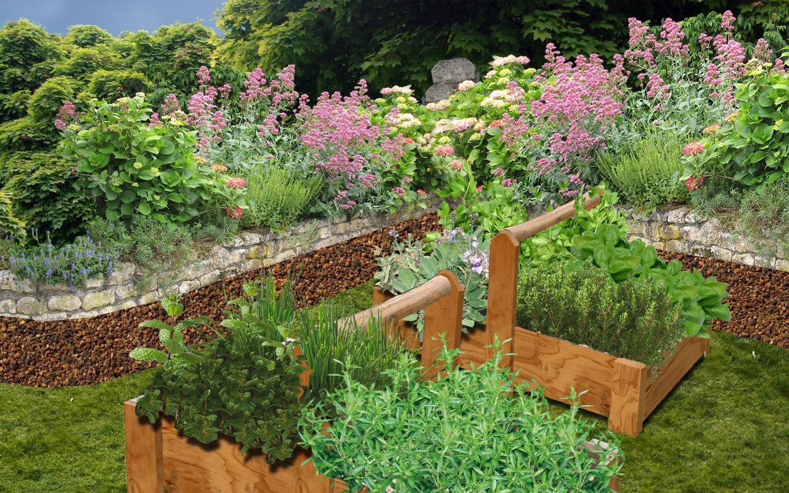 Jardin De Plantes Aromatiques Jardin De Simples Pinterest Jardins Jardins Aux Herbes De