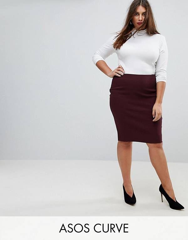 Ropa de Mujer | Comprar Vestidos, Bolsos, Zapatos | ASOS. Falda de tubo de cintura  alta de ASOS CURVE