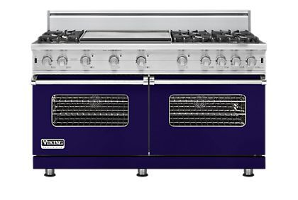 This Cobalt Blue Range Is Essentially Two Of The Existing 30 Vgcc Ranges In One 60 Unit This Is The First 24 Deep Viking Stove Viking Kitchen Viking Range