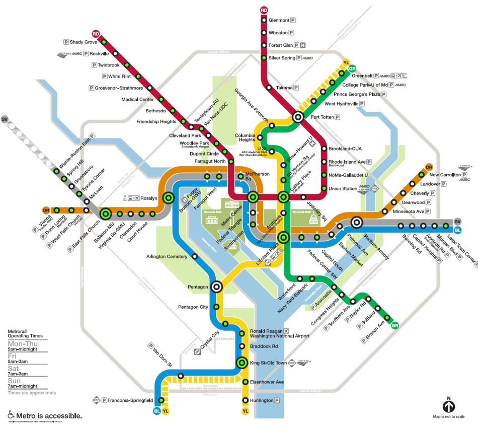 Washington Dc Metro Map Metro Map - Washington dc area map pdf