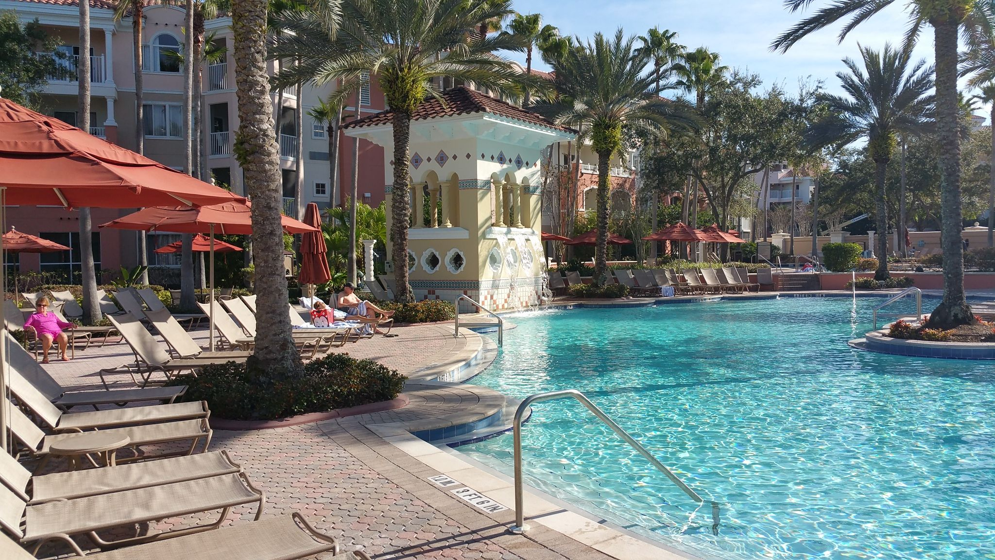 The main pool at Marriotts Grande Vista Resort in Orlando