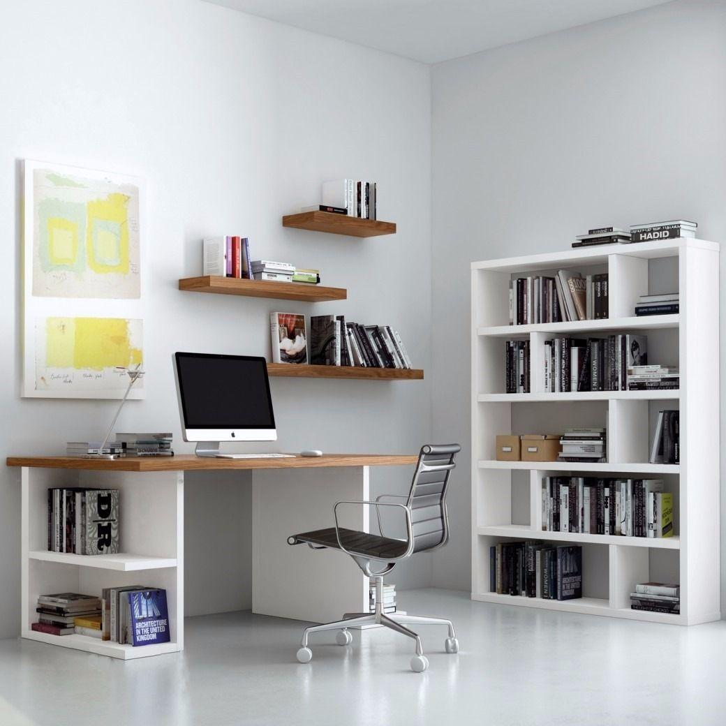 Resultado de imagen para bibliotecas con escritorio for Diseno de escritorios de oficina
