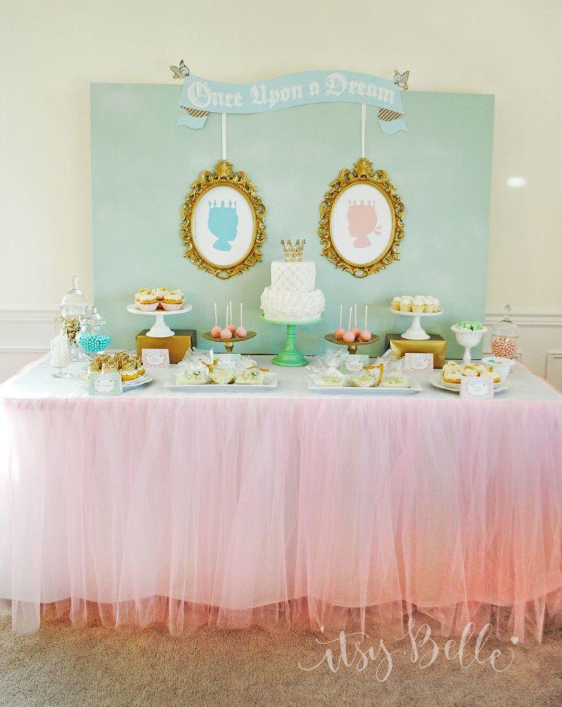 Twin Boy And Girl Baby Shower : shower, Royal, Shower, Belle, Dessert, Table,, Princess,
