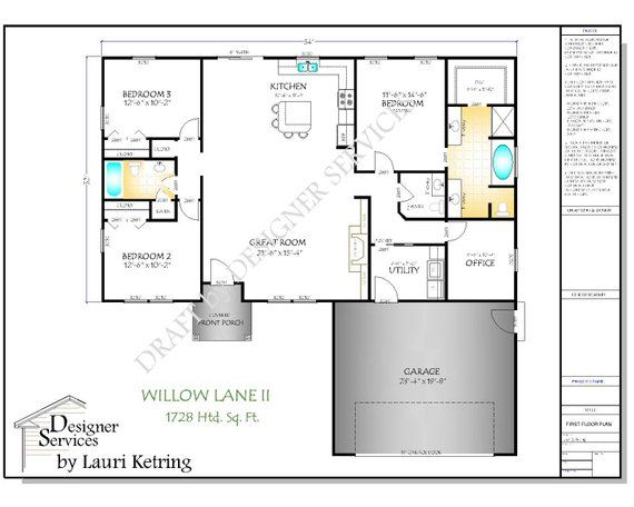 the willow lane ii house plan in 2019