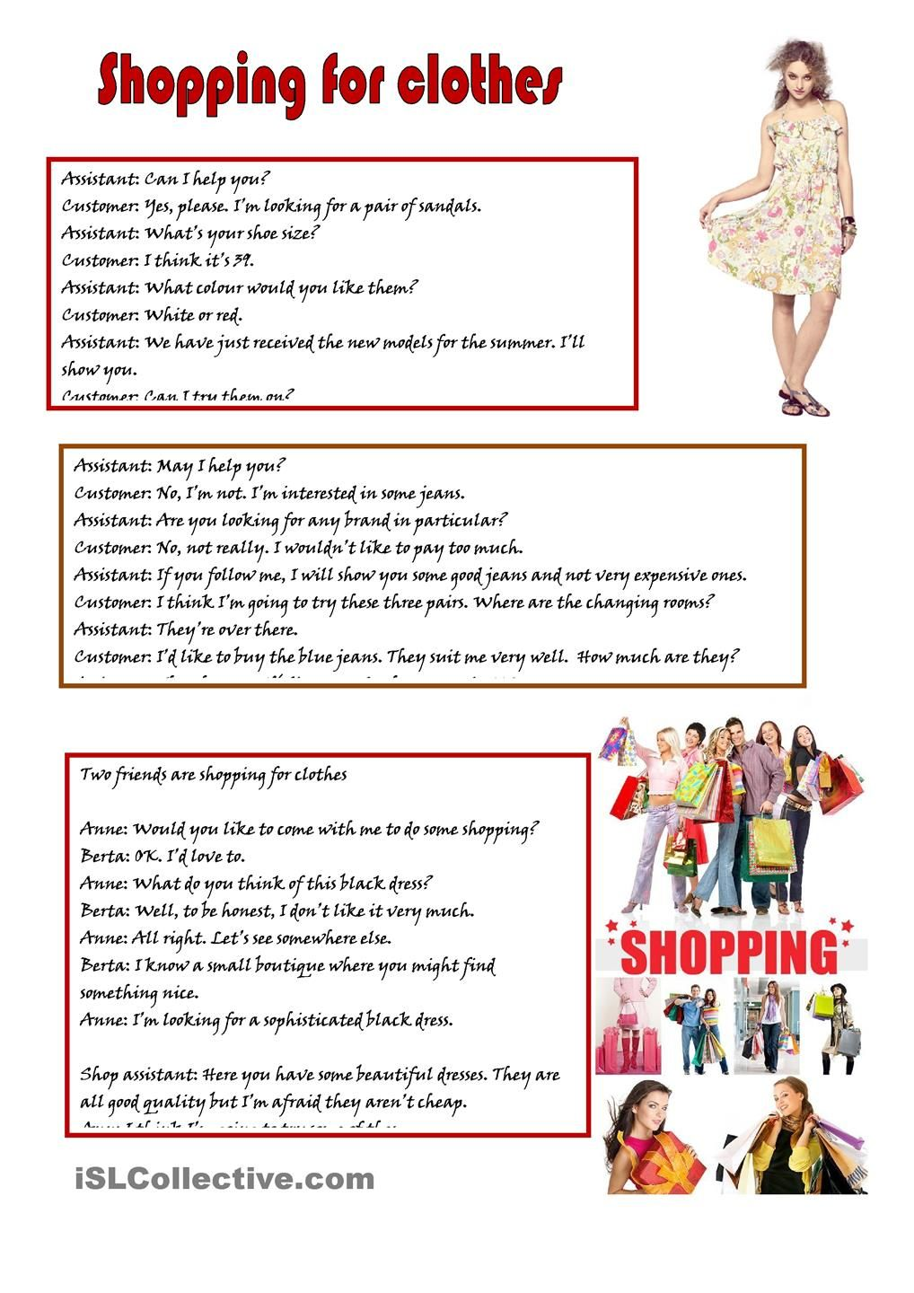 Shopping for clothes english language esl efl learn english shopping for clothes english lessonslearning englishshopping for clothes english phrasesworksheetshigh schoolstudent centered robcynllc Choice Image