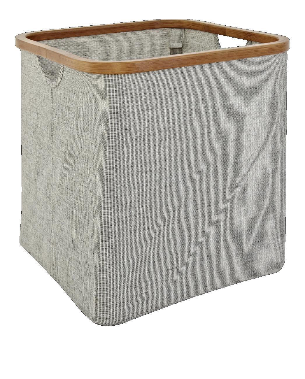 Wäschekorb Holz barnabe wäschekörbe und ständer grau stoff holz ideen rund ums