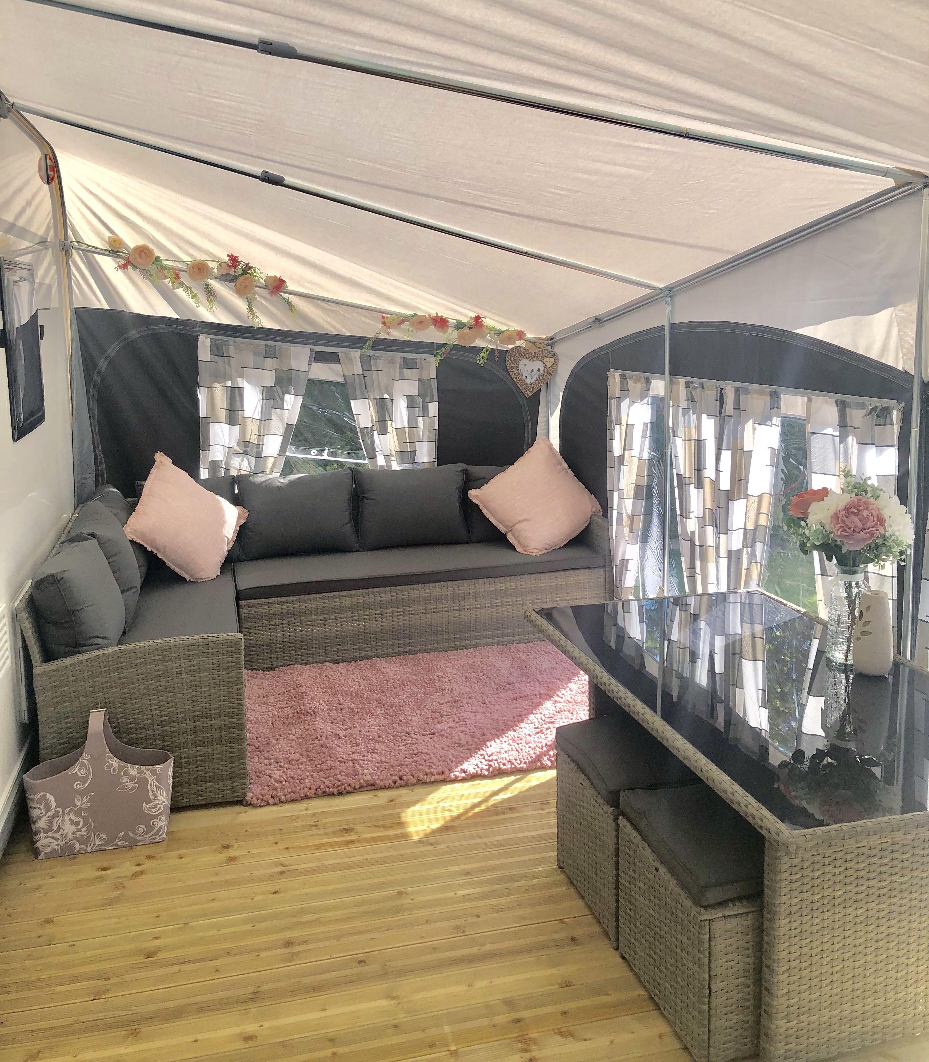 Our Caravan Awning Caravan Awning Interior Ideas Style Caravan Decor Caravan Interior Caravan Makeover