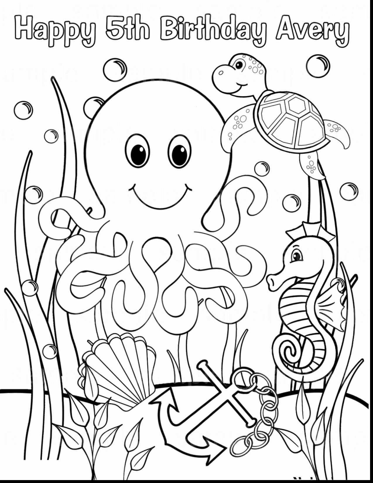 Realistic Animals Coloring Pages Unique Pages Coloring Sea Animals Coloring Pages For Kids Un In 2020 Ocean Coloring Pages Animal Coloring Pages Monster Coloring Pages