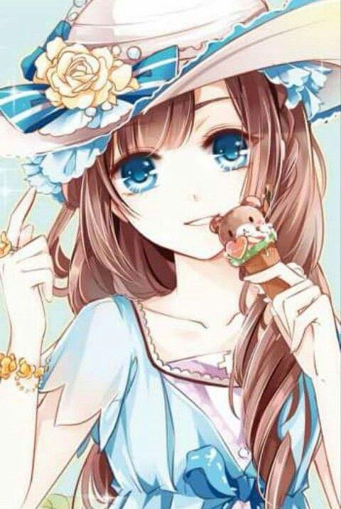 Bear ice cream anime anime anime art pretty anime girl - Ice cream anime girl ...