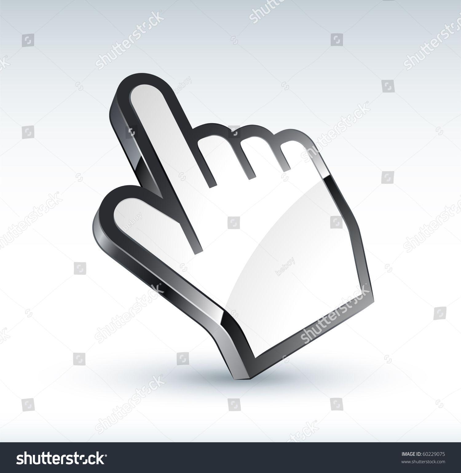 Hand Cursor Stock Vector (Royalty Free) 60229075 in 2020