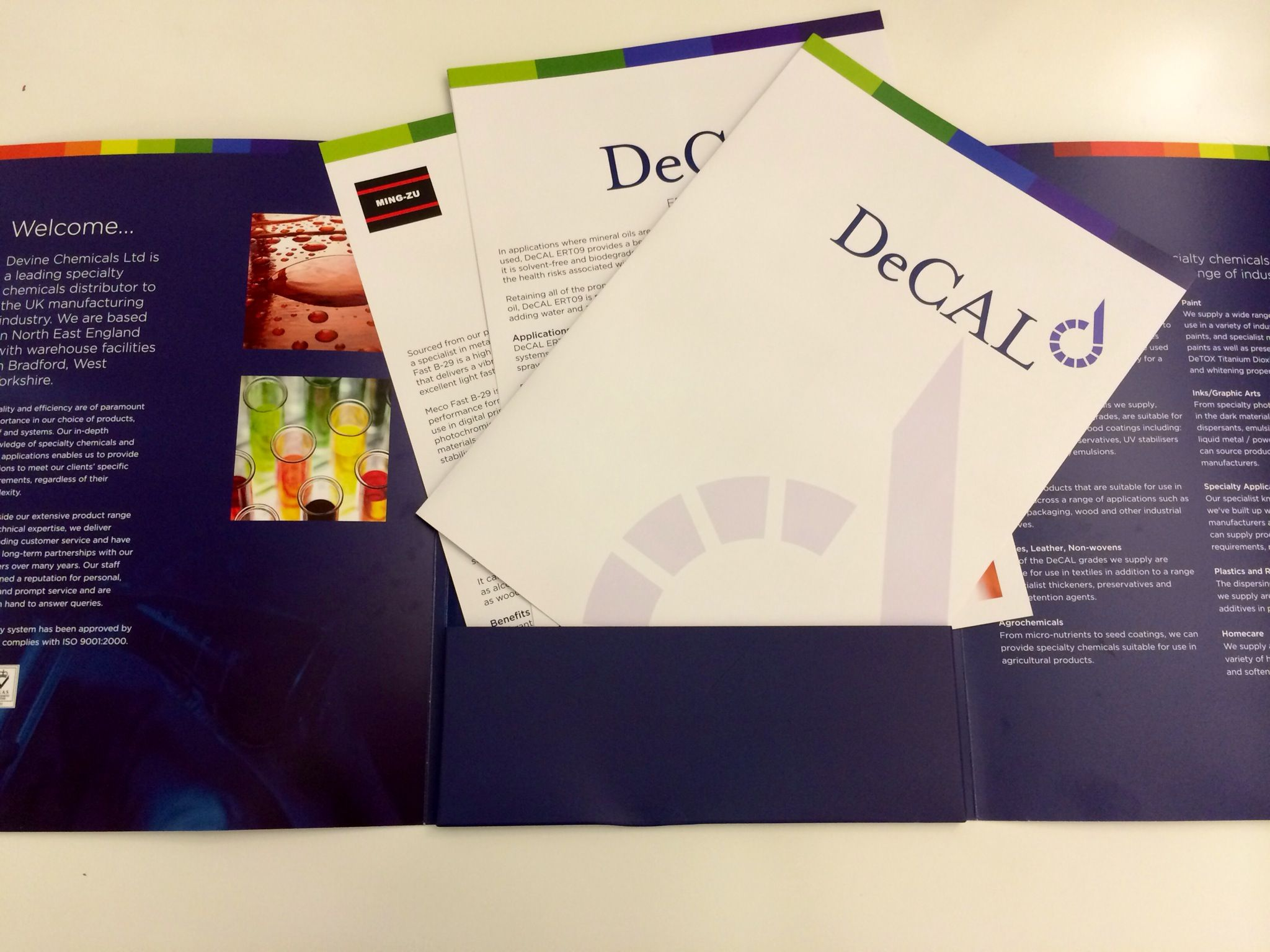 Devine Chemicals #brochure with a pocket for case studies and slot ...