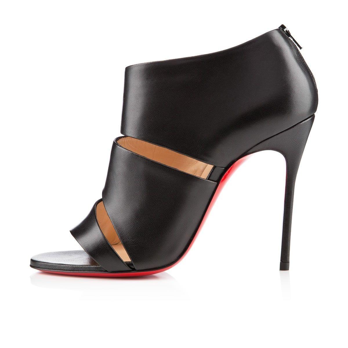 Chaussure Louboutin Pas Cher Botte Cachottiere 100mm Noir1 #chaussure