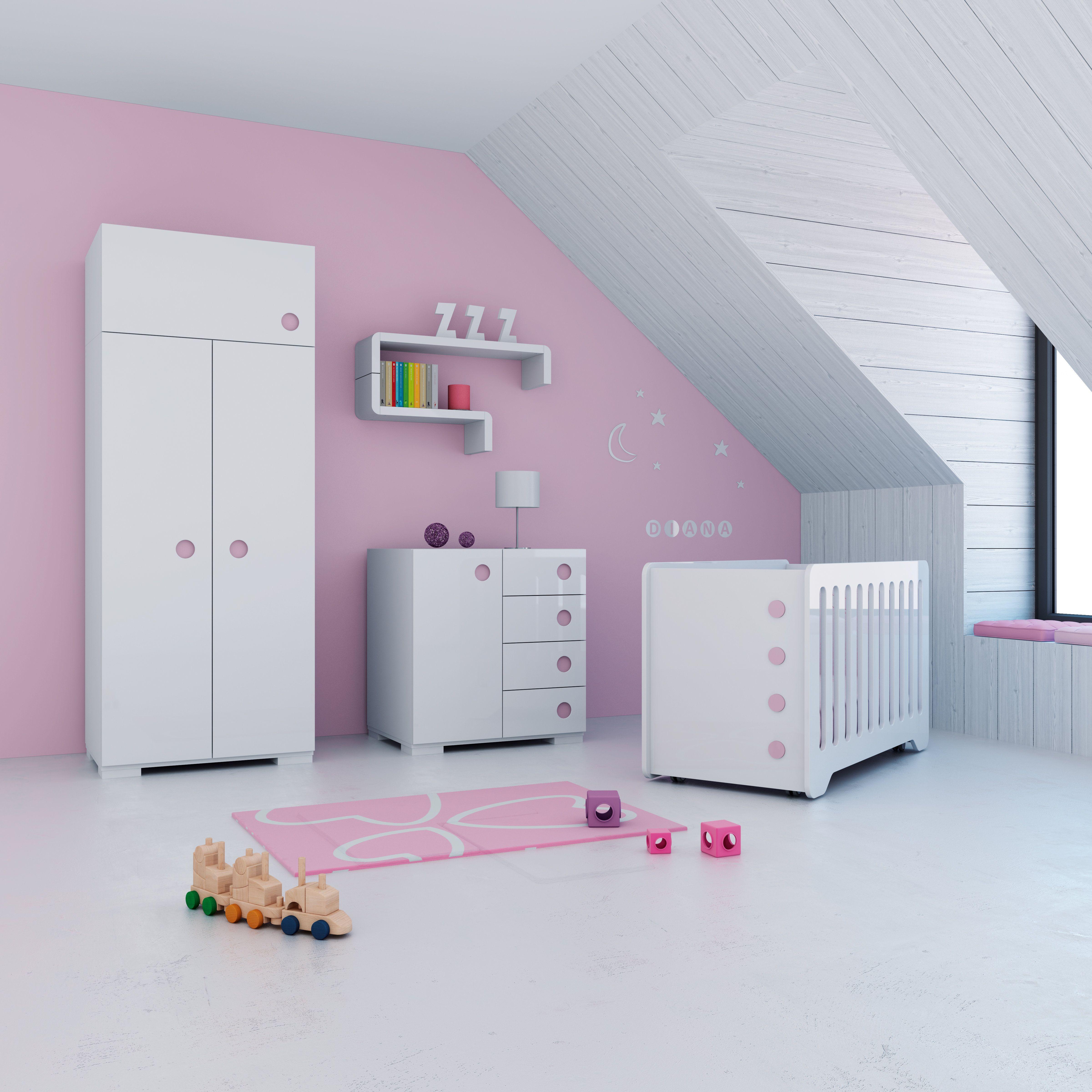 Habitaciones infantiles con encanto color rosa para ni as - Dormitorios infantiles con encanto ...