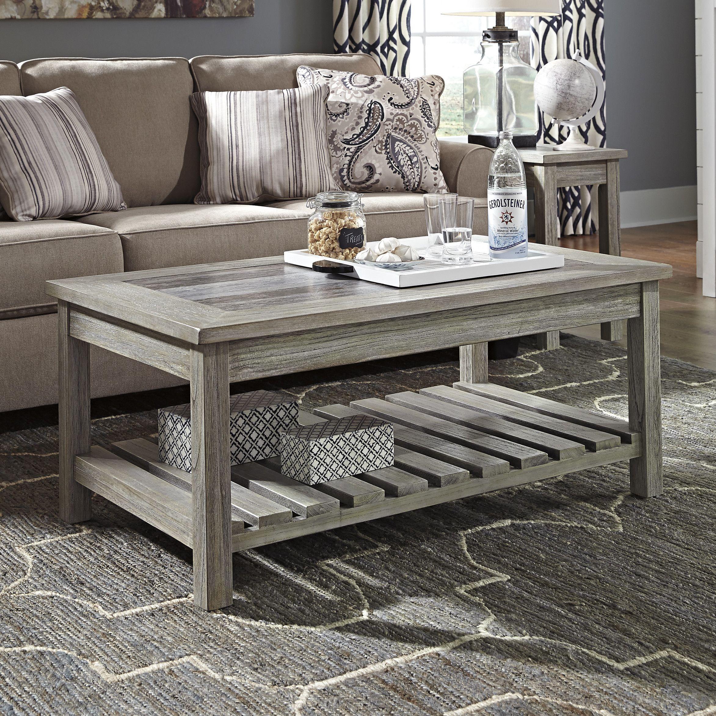 Beachcrest Home Briarwood Coffee Table with Magazine Rack | Mesas ...