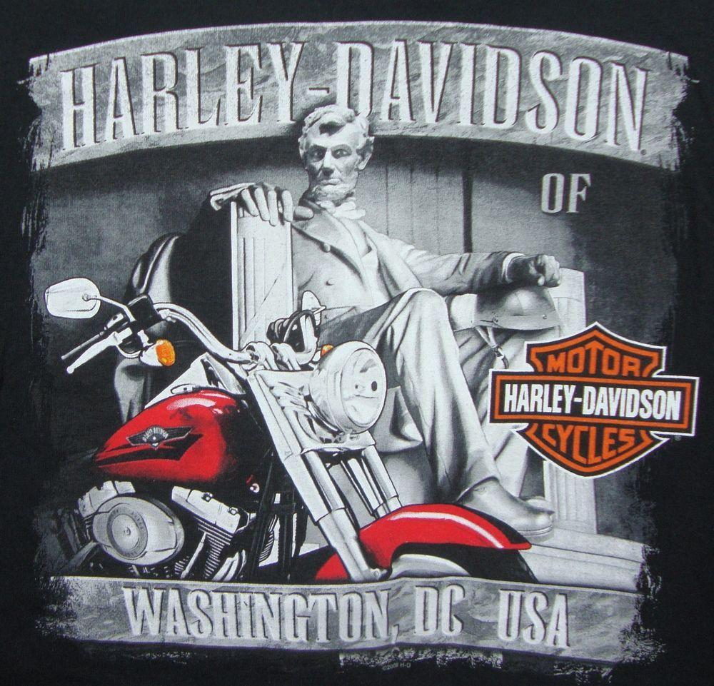 Harley Davidson Washington DC Graphic T-shirt XL Black Lincoln ...