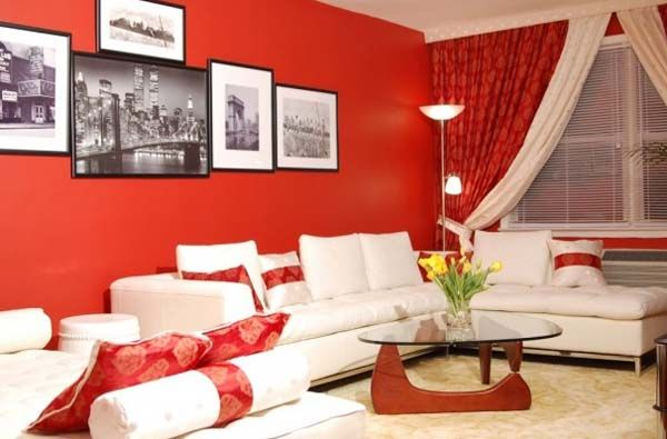 Bright Red Color Accents 15 Bold And Bautiful Home Decorating Ideas Red Living Room Walls Living Room Red Red Home Decor