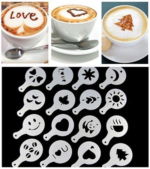 aerolatte Cappuccino Artist for Latte Coffee Art Set of 6 Decorative Stencils...