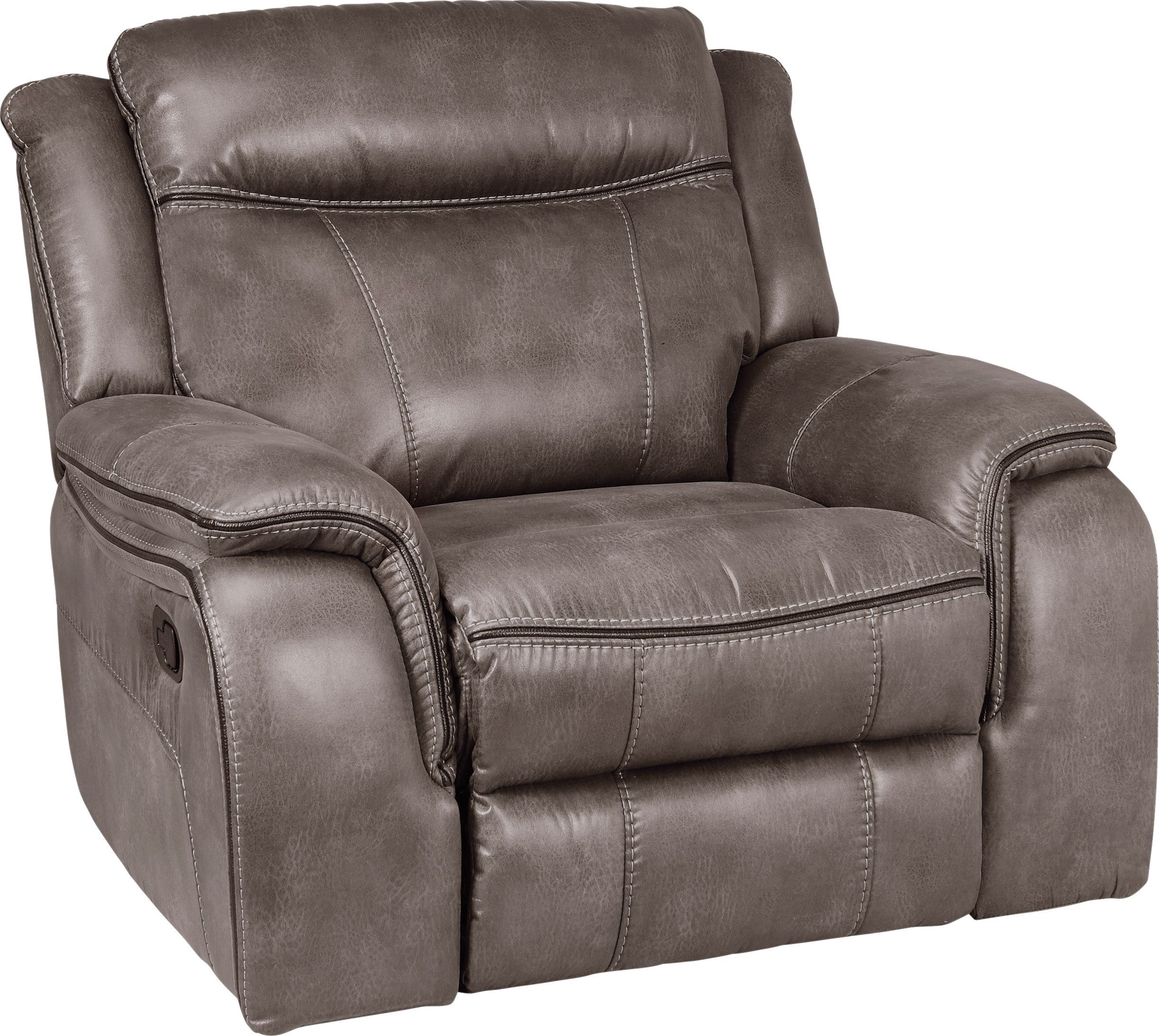 Best Cindy Crawford Home Barton Springs Gray Glider Recliner 640 x 480