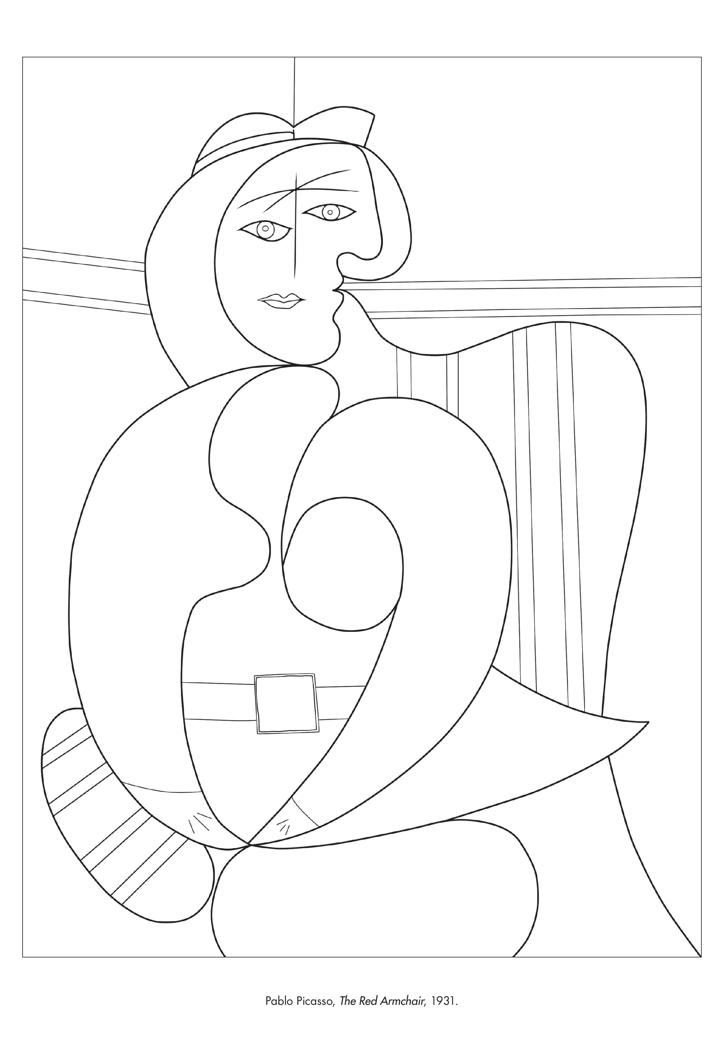 Coloring Page Of The Red Armchair By Pablo Picasso In Color The Classics From The Art Institut Picasso Coloring Cool Coloring Pages Paw Patrol Coloring Pages [ 3450 x 2400 Pixel ]