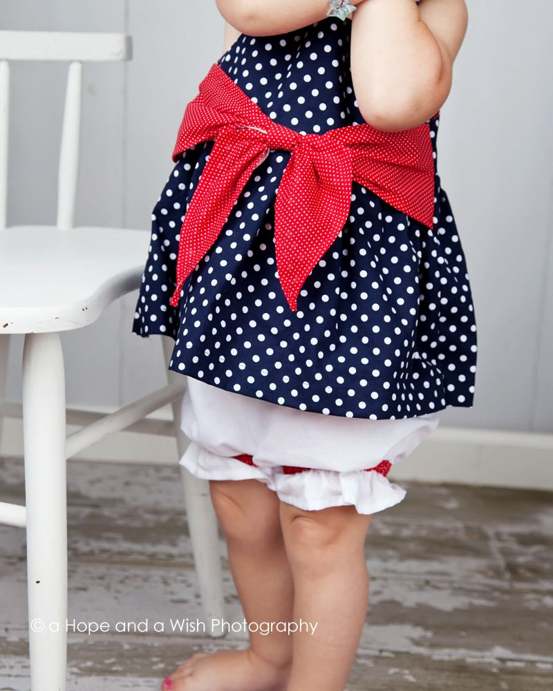 Baby Dress Pattern - Big Bow Baby Dress/Top - PDF Sewing Pattern