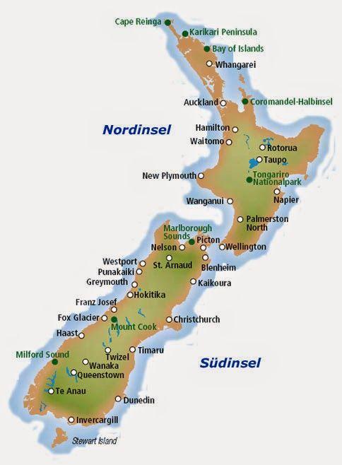 Bildergebnis Fur Neuseeland Karte Neuseeland Neuseeland Karte