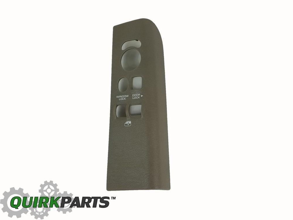 01 03 Dodge Dakota Front Left Power Window Door Lock Switch Bezel Taupe Mopar Windows And Doors Mopar Door Locks
