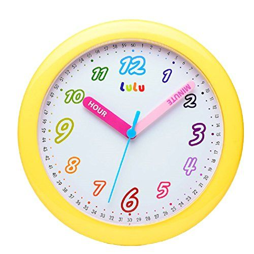Maytime Colorful Arabic Numerals Lovely Dial Room Home Childrens Round Wall Clock 10 Inchyellow More Info Could Be Found A Round Wall Clocks Clock Wall Clock