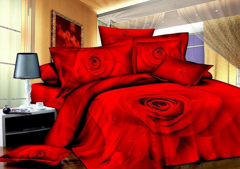 fronha colcha de 4 pcs lençois 3d conjuntos de cama de lençóis de cama jogo de cama capa têxteis reativos