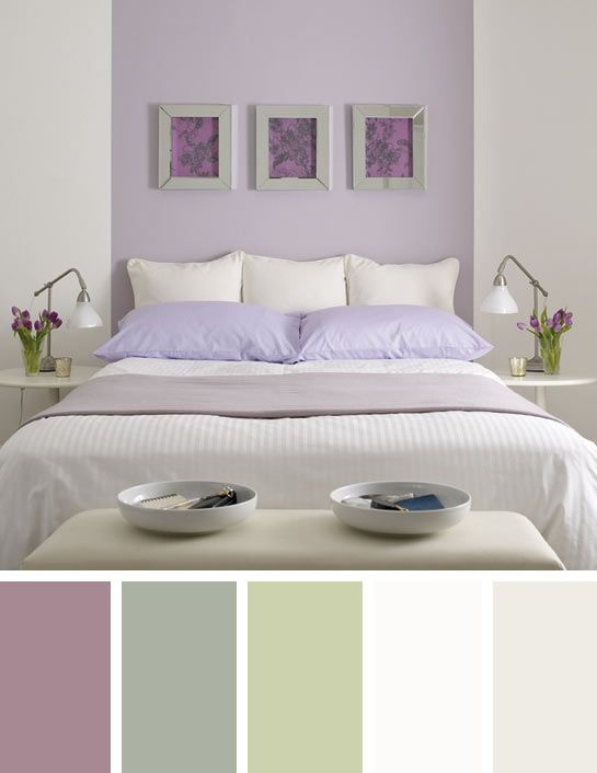 Lavender Paint Ideas For Your Home One Kings Lane: Purple And Sage Green Bedroom Colour Scheme