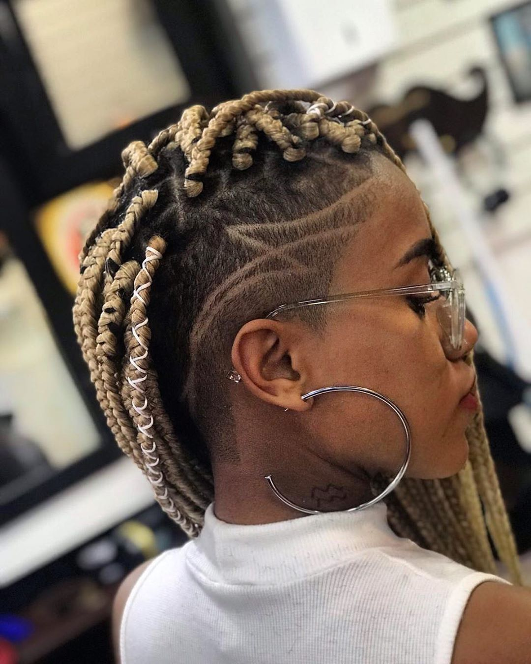 Braids Hairstyles With Shaved Sides 2018