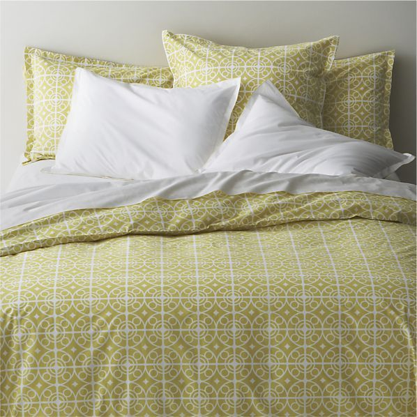 taza bedding at crate and barrel this color is complementary to purple on the color wheel - Crate And Barrel Bedding