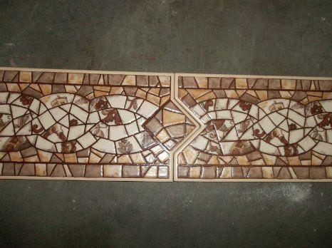 decorative tile trim ceramic interlocking border of spain