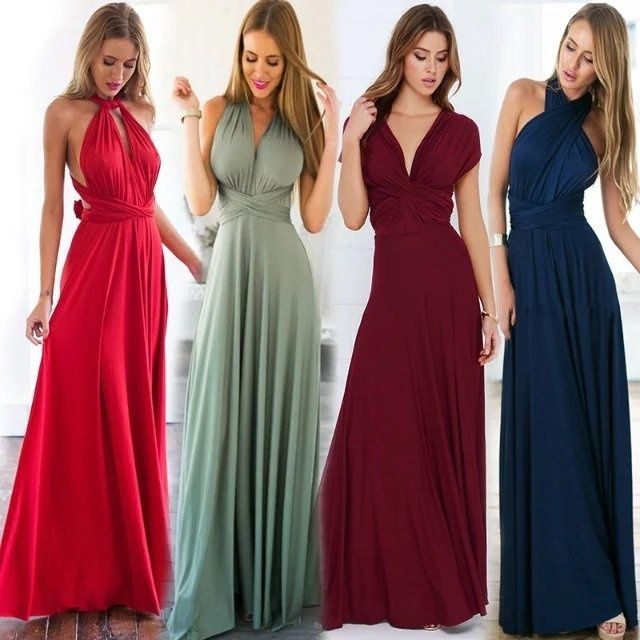 2017 Summer autumn Women Sexy Party Maxi Dress Bandage Dress Long Sexy  Bridesmaids Wrap Dress Convertible Multipoint Robe Longue. Kinikiss Women s  Evening ... baff118bacf3