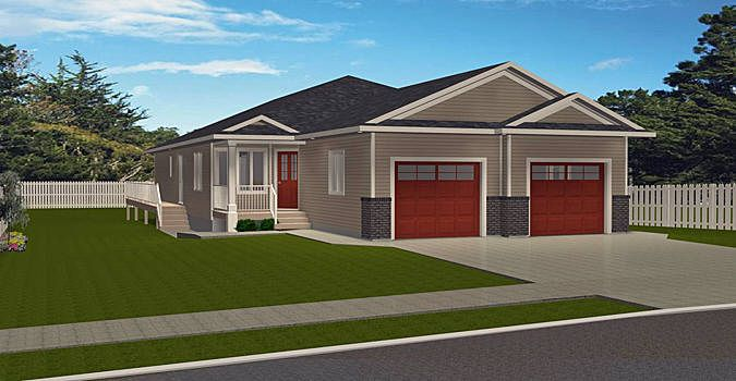 Plan 2008702 Side By Side Two Bedroom Duplex By Edesignsplans Ca This Duplex Design Has A Single Car Att Duplex Plans Duplex Floor Plans Duplex House Plans