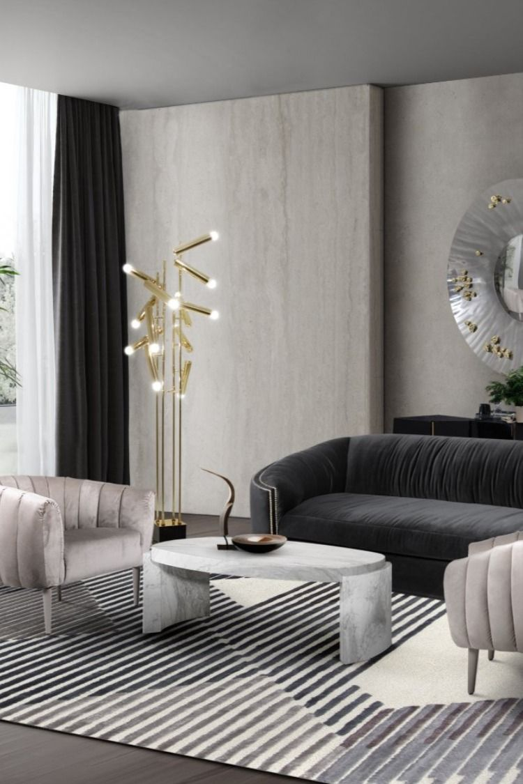 How To Get A Luxury Living Room Pt 1 Golden Lighting: 2020 Trends - Golden Lighting Ideas For New Year