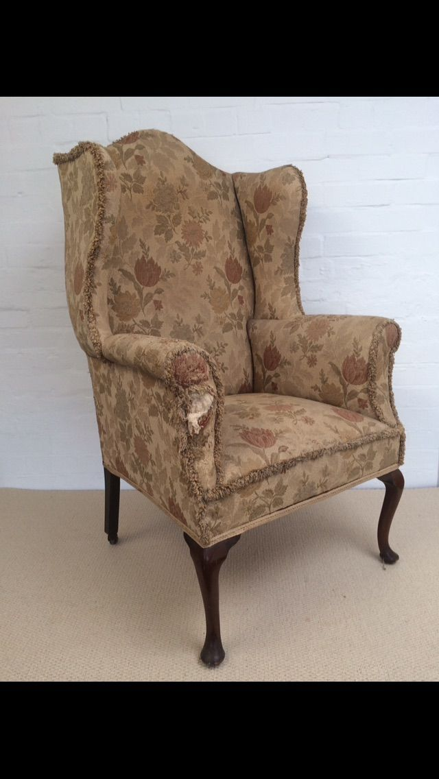 Edwardian winged chair for sale at www ...