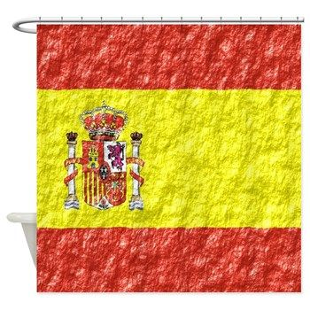 Shower Curtains R Us Spanish Flag Curtain Of Spain This Design Makes A Great Gift For Any Lover