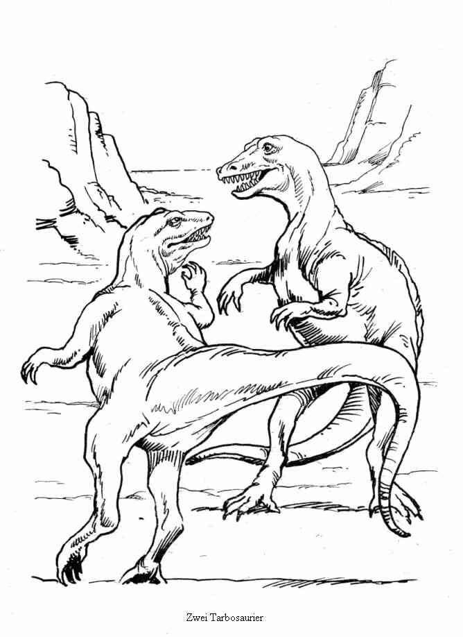 dinosaurier 10 ausmalbilder  boyama sayfaları