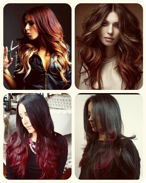 The Best Ombre Hair Color Match Different Skin Tone Red Ombre