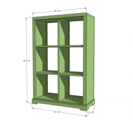 Elegant 6 Cubby Storage Unit From Ana White. Weu0027ll Make Ours With All Straight