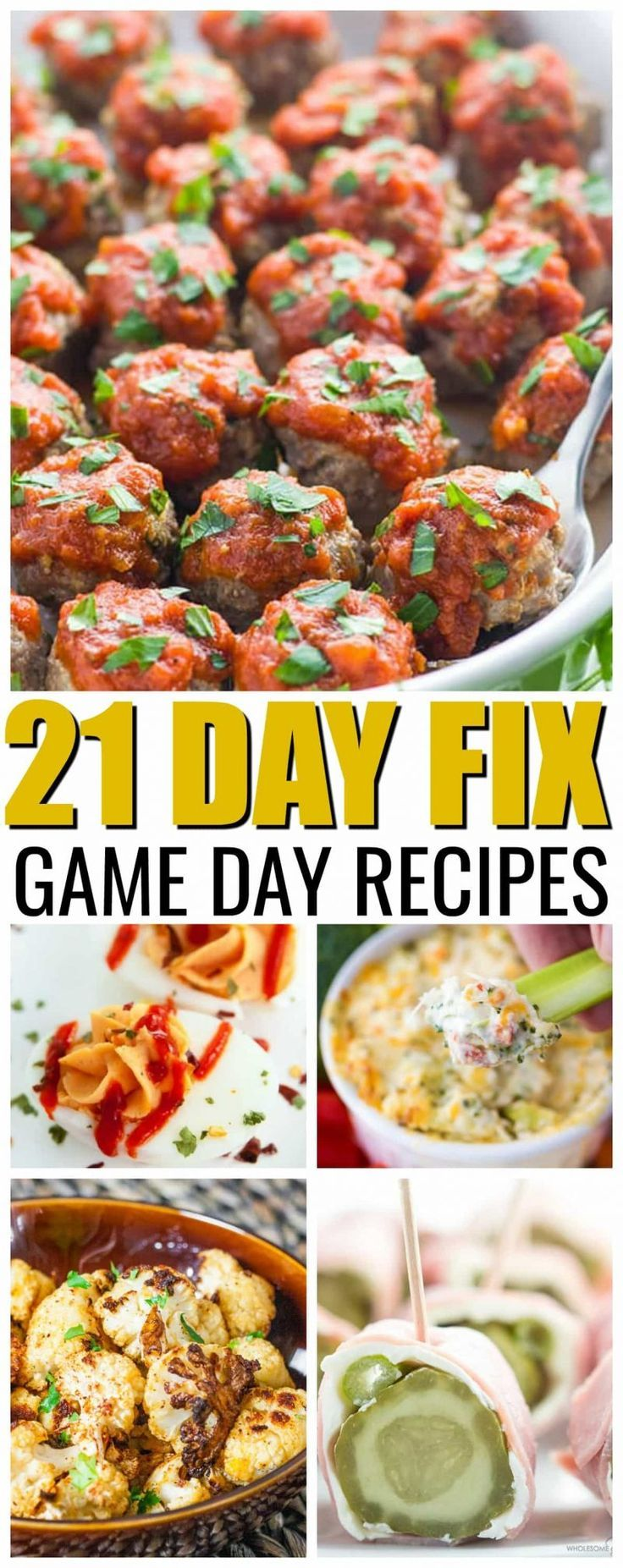 21 Day Fix Game Day Foods -