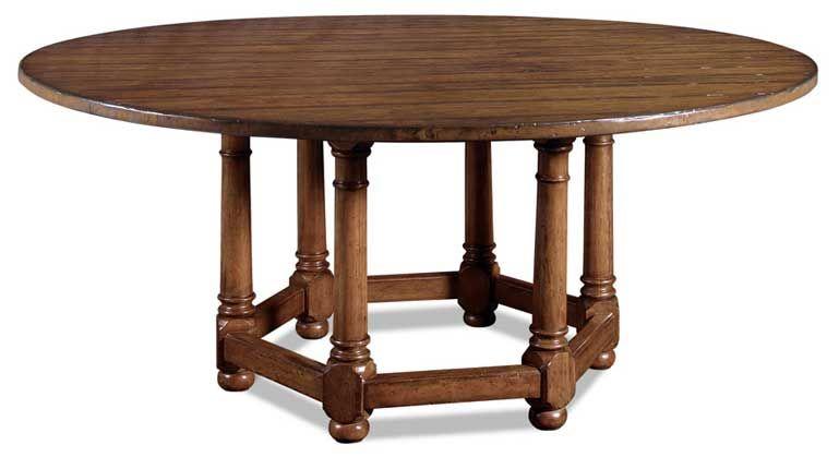 Lexington Vintage Patina 322 275 Dining Table 72 Diameter Finish On Solid Mahogany