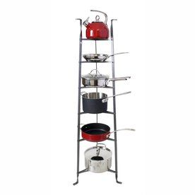 Enclume 16 5 In X 16 5 In Gray Freestanding Ladder Pot Rack Cws6