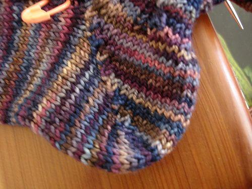 Knitting Wrap And Turn Tutorial : No wrap gap short row heel tutorial wraps tutorials and shorts