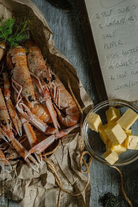 Langoustines On Kitchen Table With Recipe Book By Darren Muir Recipes Kitchen Table Recipe Book