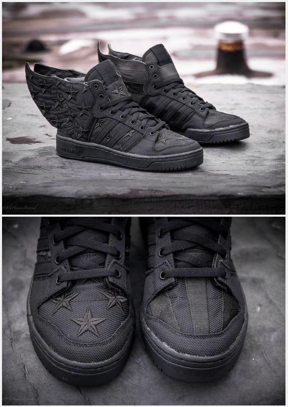 "100% authentic 357a1 4d1a5 AAP Rocky x Jeremy Scott x adidas Originals JS Wings 2.0 ""Black Flag"""