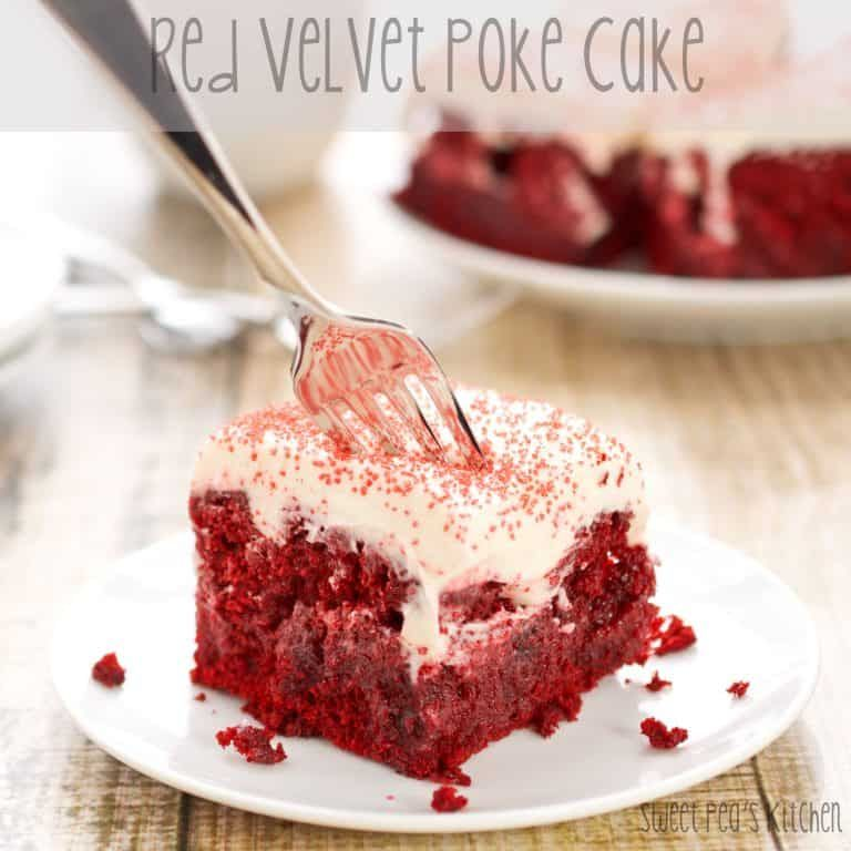 Best Easy Red Velvet Poke Cake Recipe Sweet Pea S Kitchen Recipe In 2020 Poke Cake Poke Cake Recipes Red Velvet Poke Cake