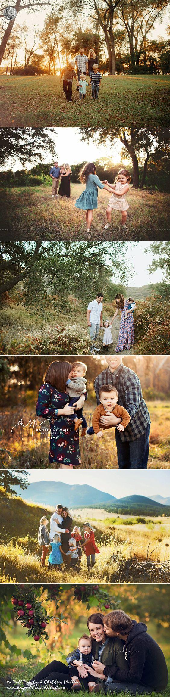 25 Fall Family and Children Pictures | Fotografía de familia, Otoño ...
