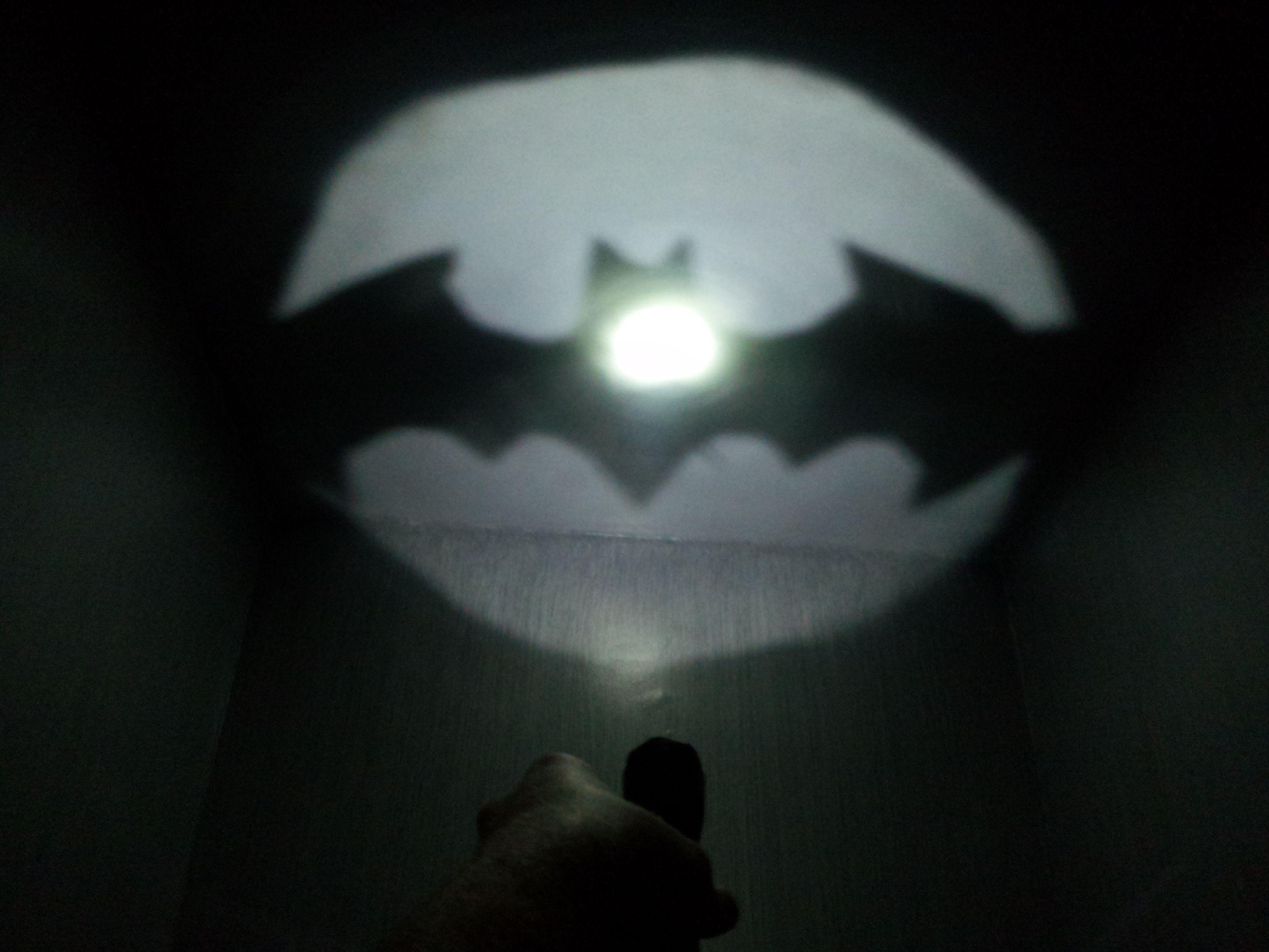 Homemade Flashlight Bat Signal